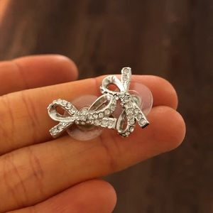 kate spade silver bow studs